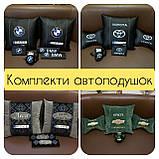 Автомобільні подушки з логотипом, держномером, подушки на підголовники, фото 9