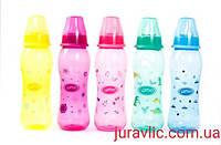 Детская бутылочка разнацветная с силиконой соской 250мл Li 134 Детская бутылочка для кормления 250ми