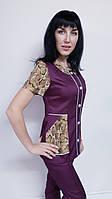Женский костюм Лиза коттон 44 размер короткий рукав