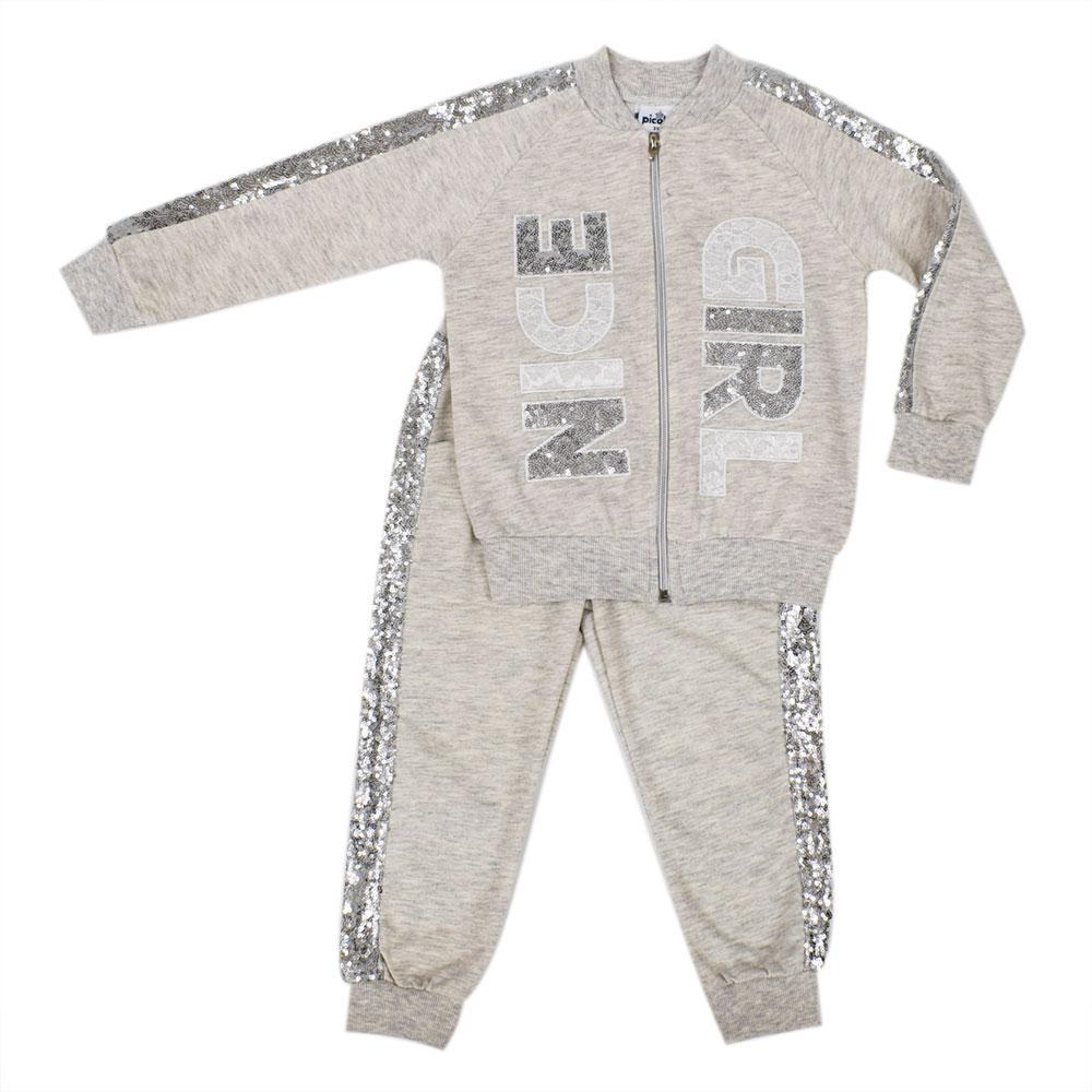 Костюм (брюки, бомбер) для девочек Picola 4  бежевый 5501