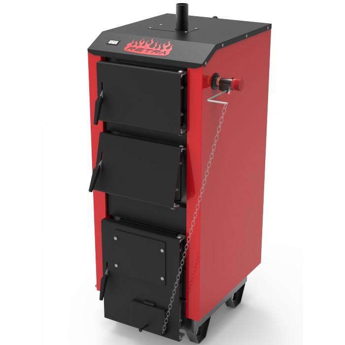 Бытовой котел на твердом топливе длительного горения РЕТРА-5М 15 кВт (RETRA 5-M)
