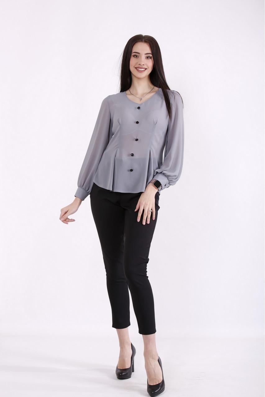 01466-1   Сіра блузка великого розміру