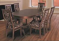 Обеденный гарнитур Эдельвейс со стульями,орех, фото 1