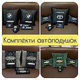 Подушки с логотипом в машину, госномером, подголовники в машину автомобильные, фото 8