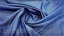Ткань однотонный летний джинс джинсового цвета