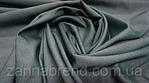 Ткань однотонный летний джинс темно-зеленого цвета