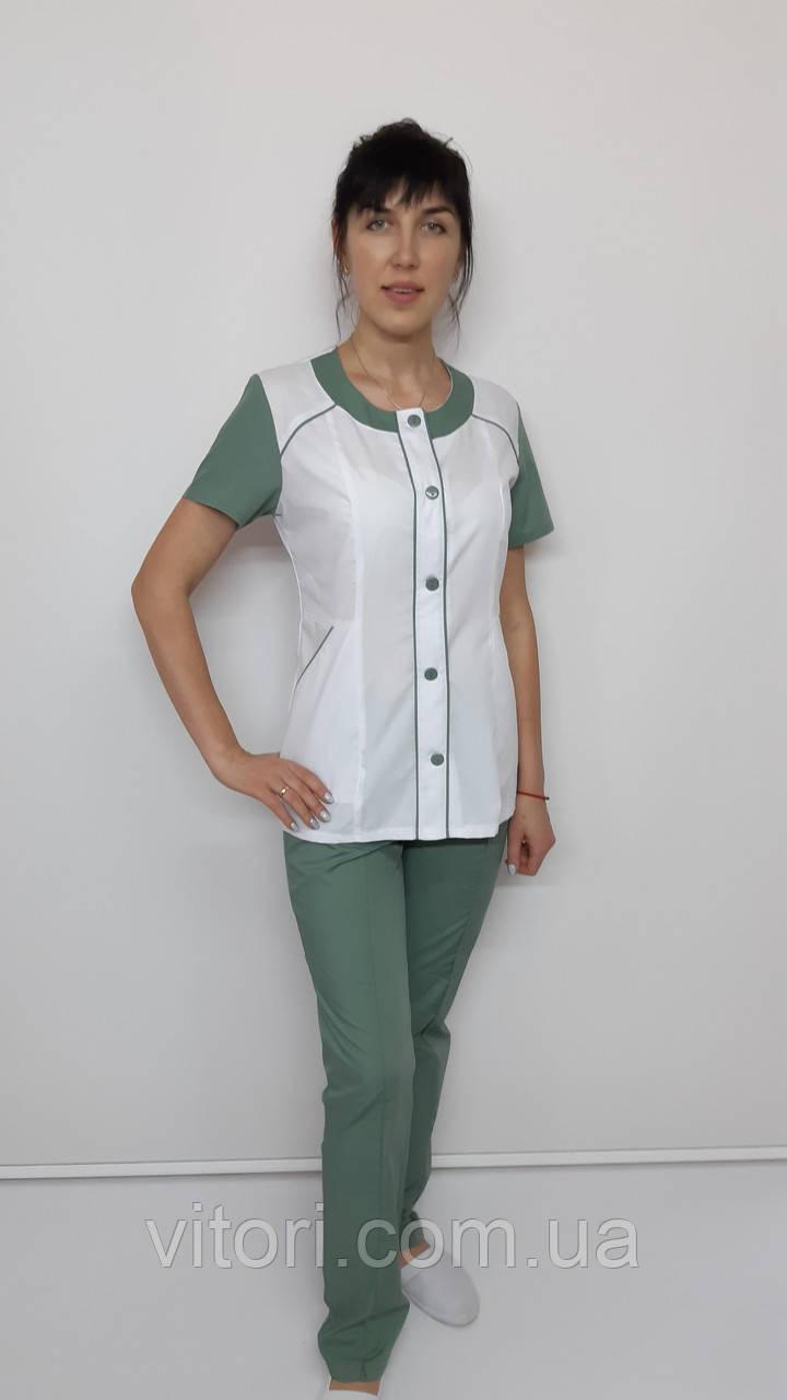 Женский медицинский костюм Лиза хлопок короткий рукав