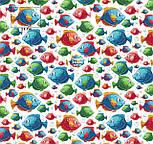 """Лоскут ткани """"Аквариумные рыбки разных цветов"""" на белом (№2228), размер 26*160 см, фото 2"""