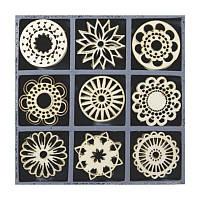 Набор мини-заготовок, Фантастичиские цветы, 10,5x10,5см, 45шт, Knorr Prandell
