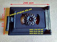 Дверца чугунная печная с регулировкой поддува воздуха (140х220) мангал, барбекю, печи