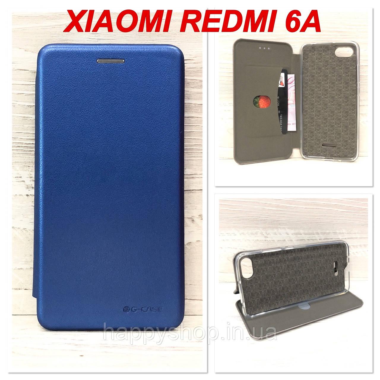 Чехол-книжка G-Case для Xiaomi Redmi 6A (Синий)