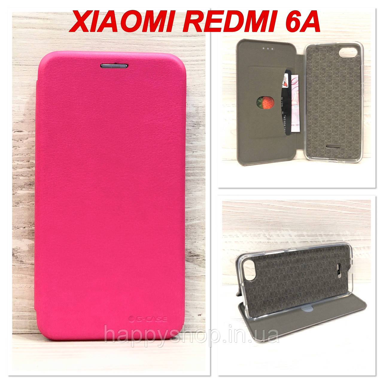 Чехол-книжка G-Case для Xiaomi Redmi 6A (Розовый)