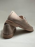 Стильні жіночі туфлі-мокасини з перфорацією.Оксфорди.Колір пудра.Туреччина. 37 38 39 40 Vellena, фото 10