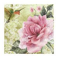 Декупажные салфетки ''Роза'', зеленые, 33x33 см, 17,5 г/м2, 20 шт, ti-flair