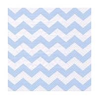 Декупажные салфетки ''Зигзаг'', голубые, 33x33 см, 17,5 г/м2, 20 шт, ti-flair