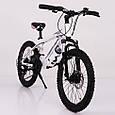 Горный подростковый велосипед S200 HAMMER Колёса 20 дюймов Рама 12  Япония Shimano Бело-Розовый, фото 9