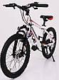 Горный подростковый велосипед S200 HAMMER Колёса 20 дюймов Рама 12  Япония Shimano Бело-Красный, фото 4