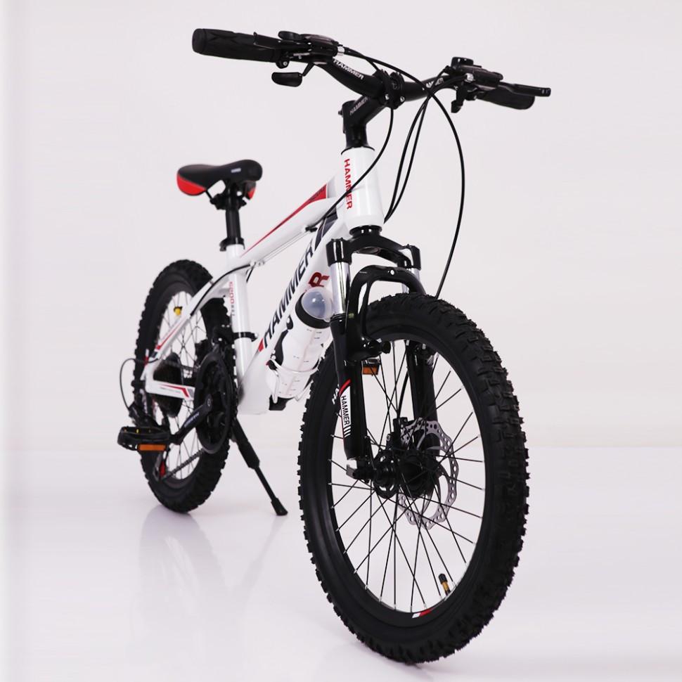 Горный подростковый велосипед S200 HAMMER Колёса 20 дюймов Рама 12  Япония Shimano Бело-Красный