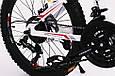 Горный подростковый велосипед S200 HAMMER Колёса 20 дюймов Рама 12  Япония Shimano Бело-Красный, фото 7