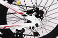 Горный подростковый велосипед S200 HAMMER Колёса 20 дюймов Рама 12  Япония Shimano Бело-Красный, фото 8