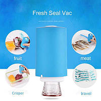 Вакуумный упаковщик ручной для еды Always Fresh Seal Vac от батареек, 6 пакетов, упаковщик