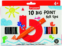 Набор детских цветных фломастеров BIG POINT, 10 цв., Bruynzeel