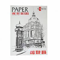 Набор бумаги для графики SANTI, А3 ''Fine art sketches'', 20 л., 190 г/м2