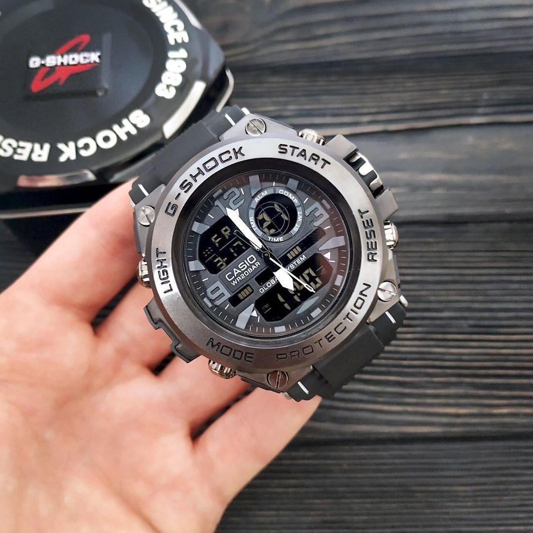 Мужские наручные часы Casio G-Shock GLG 1000 в черном цвете. Отличный подарок. Реплика