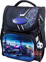 Рюкзак школьный Winner-stile 26*14*34 (чёрный с синей машиной)