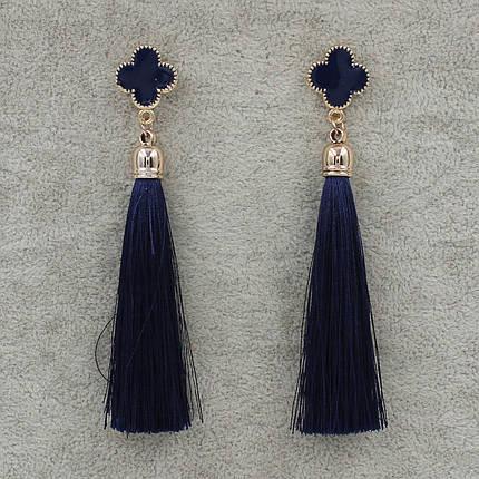 Серьги Кисти Синий L- 9.5 см Бижумир, фото 2