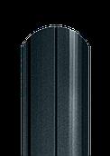 Штакет напівкруглий матовий двосторонній 7019 МАТ (антрацит)