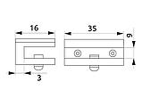 Полкотримач для скляних полок GIFF N2 хром, фото 2
