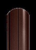 Штакет напівкруглий матовий двосторонній 8019 МАТ (темно-коричневий)