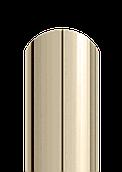 Штакет напівкруглий двосторонній поліестер 1015 (слонова кістка)