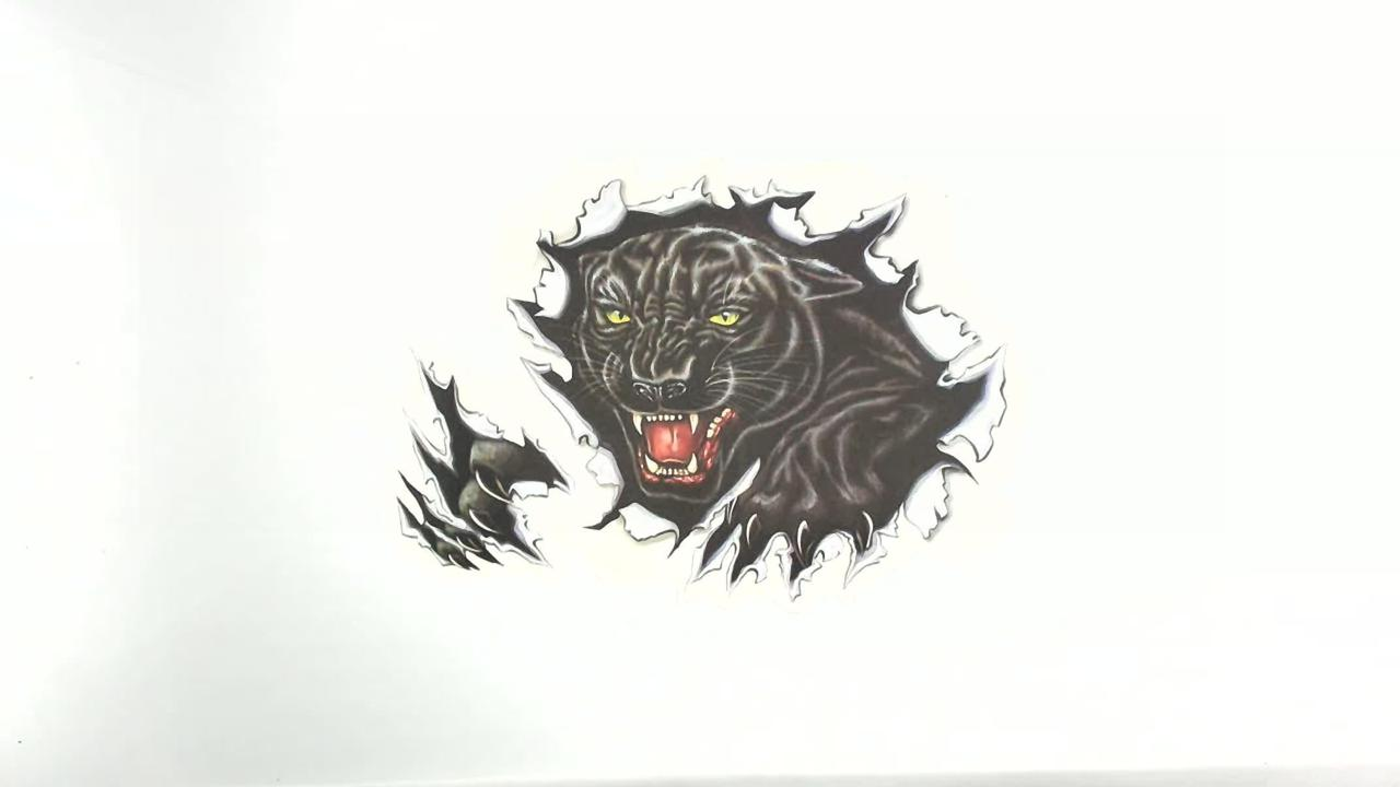 Наклейка   декор   BLACK PANTER   (24х34см)