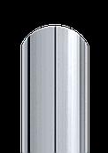 Штакет напівкруглий двосторонній поліестер 9006 (сірий металік)