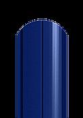 Штакет напівкруглий двосторонній поліестер 5005 (синій)