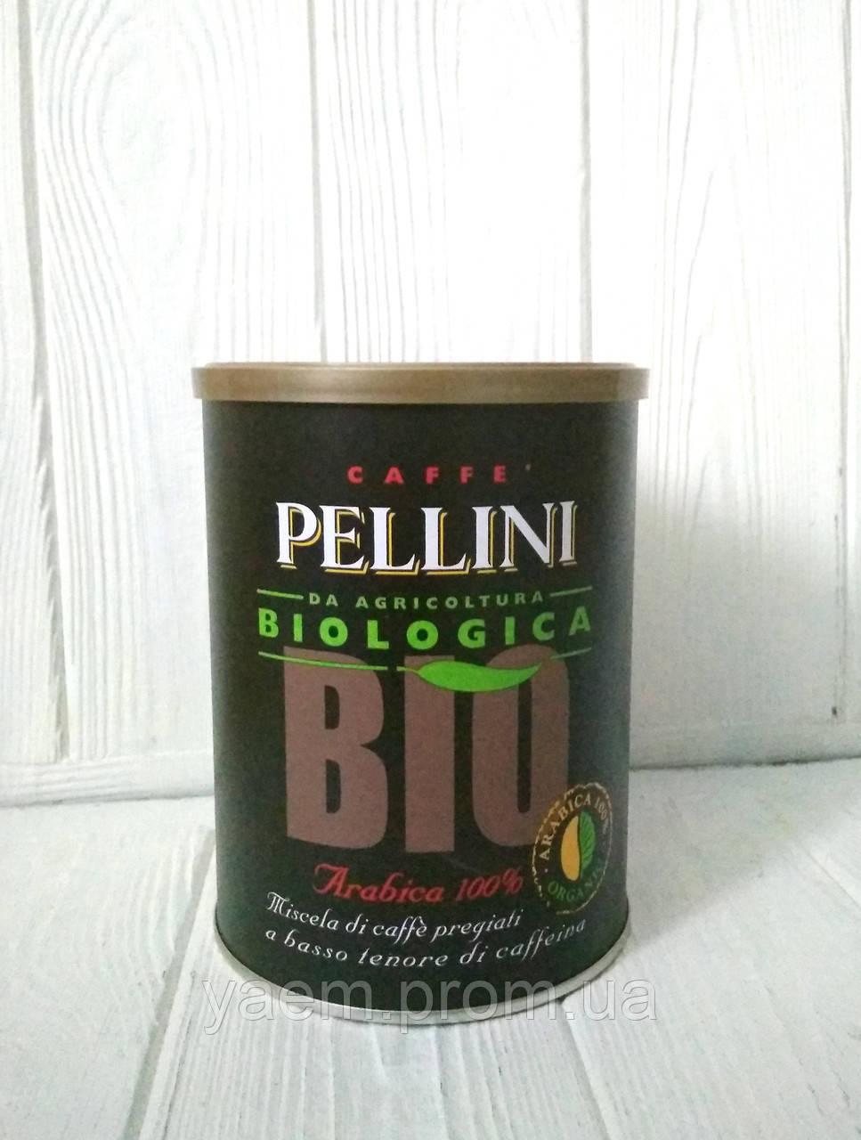 Кофе молотый Pellini Biologica Bio arabika 100% 250гр ж/б (Италия)