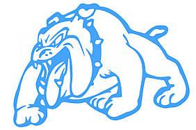 Наклейка   декор   DOG   (13x10см, синяя, левая)   (#HQ007BL)