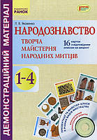 Народознавство Творча майстерня народних митців (16 двостор. карток)+CD