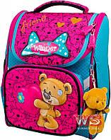 Рюкзак школьный Winner-stile 26*14*34 (розово-бирюзовый)
