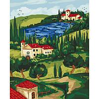 Картина по номерам Домик у реки, 40x50 см., Идейка КНО2274