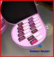 Набор жидких матовых помад Kylie  (Реплика) в наборе 12 оттенков, стойкая матовая жидкая помада