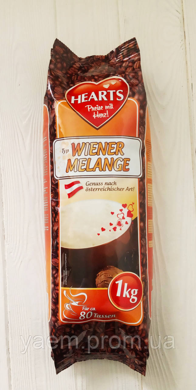Капучино Hearts Cappuccino Wiener Melange 1кг (Германия)