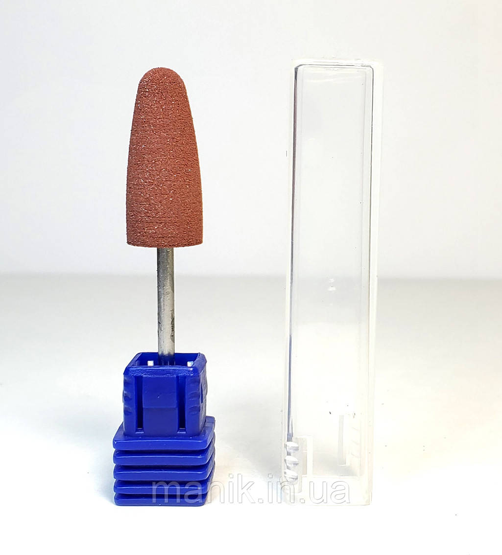 Насадка силиконовая для полировки, пуля коричневая