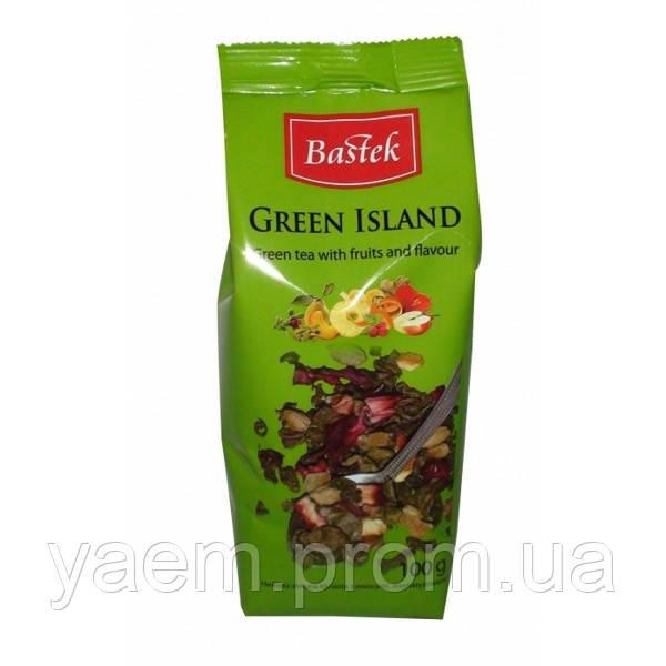 Чай зелёный с фруктами BASTEK Green Island 100гр. (Польша)