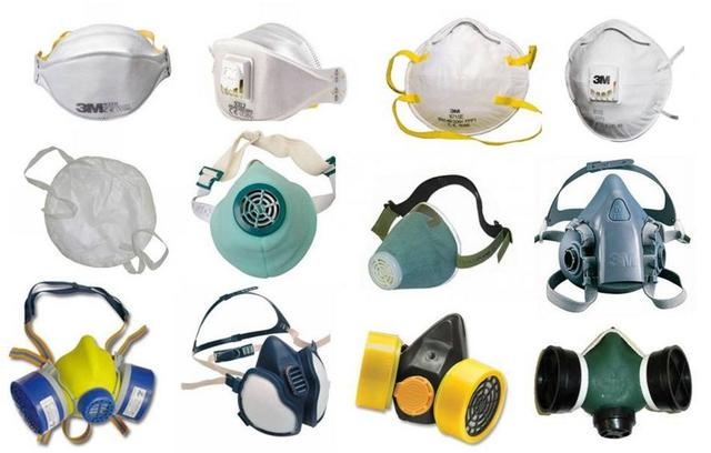Респираторы, маски со сменными фильтрами