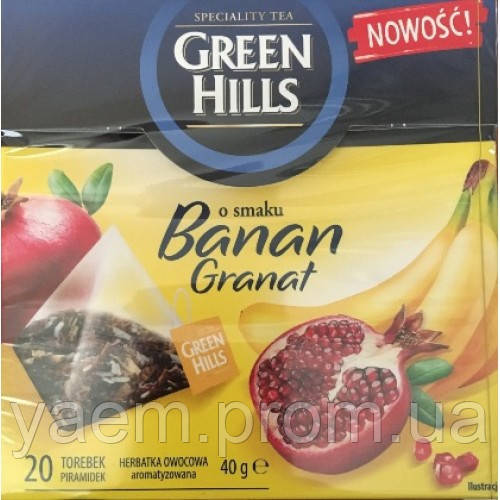Чай Green Hills банан и гранат 20 пакетиков (Польша)