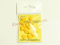 Наживка силиконовая Mad Carp Кукуруза со стопорами желтая 16шт