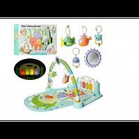 Детский Музыкальный Коврик Развивающий Metr + Погремушки + 4 Мелодии + Клавиши (9912N)